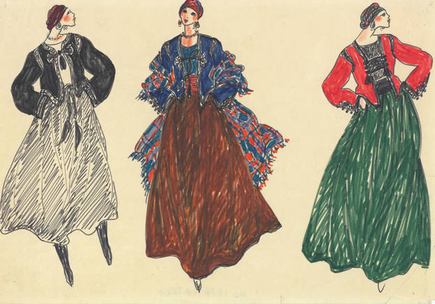 Dessins d'Yves Saint Laurent